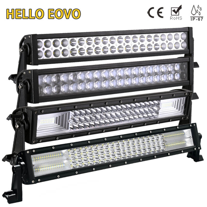 HELLO EOVO 22 Inch LED Light Bar for Off Road Indicators Work Driving Offroad Boat Car Truck 4x4 SUV ATV Fog Combo 12V 24V 52inch 300w led light bar for off road indicators work driving car truck 4x4 suv atv fog spot flood beam 12v 24v led headlight