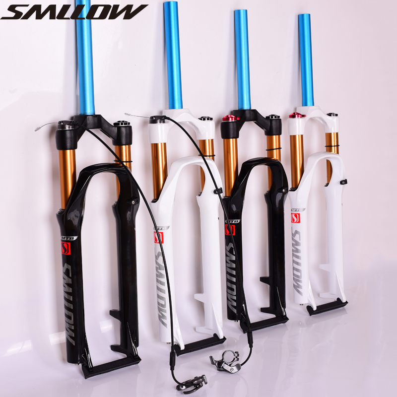 SMLLOW Mtb air suspension 26 bicycle fork 27.5 magnesium alloy Mtb fork bike accessory