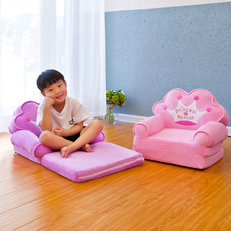 Louis Fashion Children Sofa Folding Cartoon Cute Lazy Person Lying Seat Baby Stool Kindergarten Can Be Disassembled Washed #4
