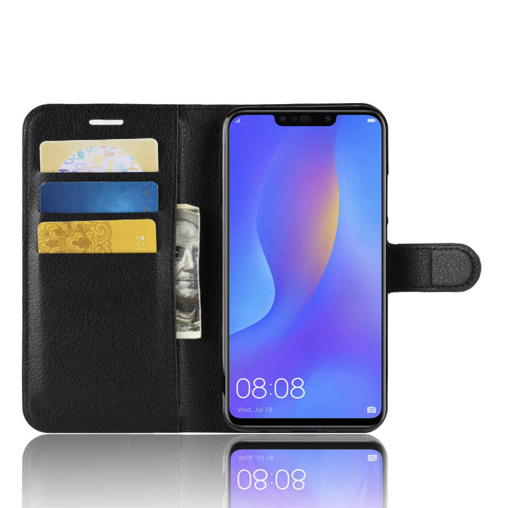 Baiscxst Luxury Leather Flip Case For Huawei Nova 3i Stand Book Wallet Case  For P Smart +(Germany) Cover Coque On Phone Bags