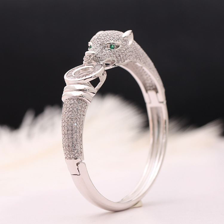 Marchio di gioielli di lusso squisito del braccialetto del leopardo di modo prepotente oro e argento braccialetto regalo femminile