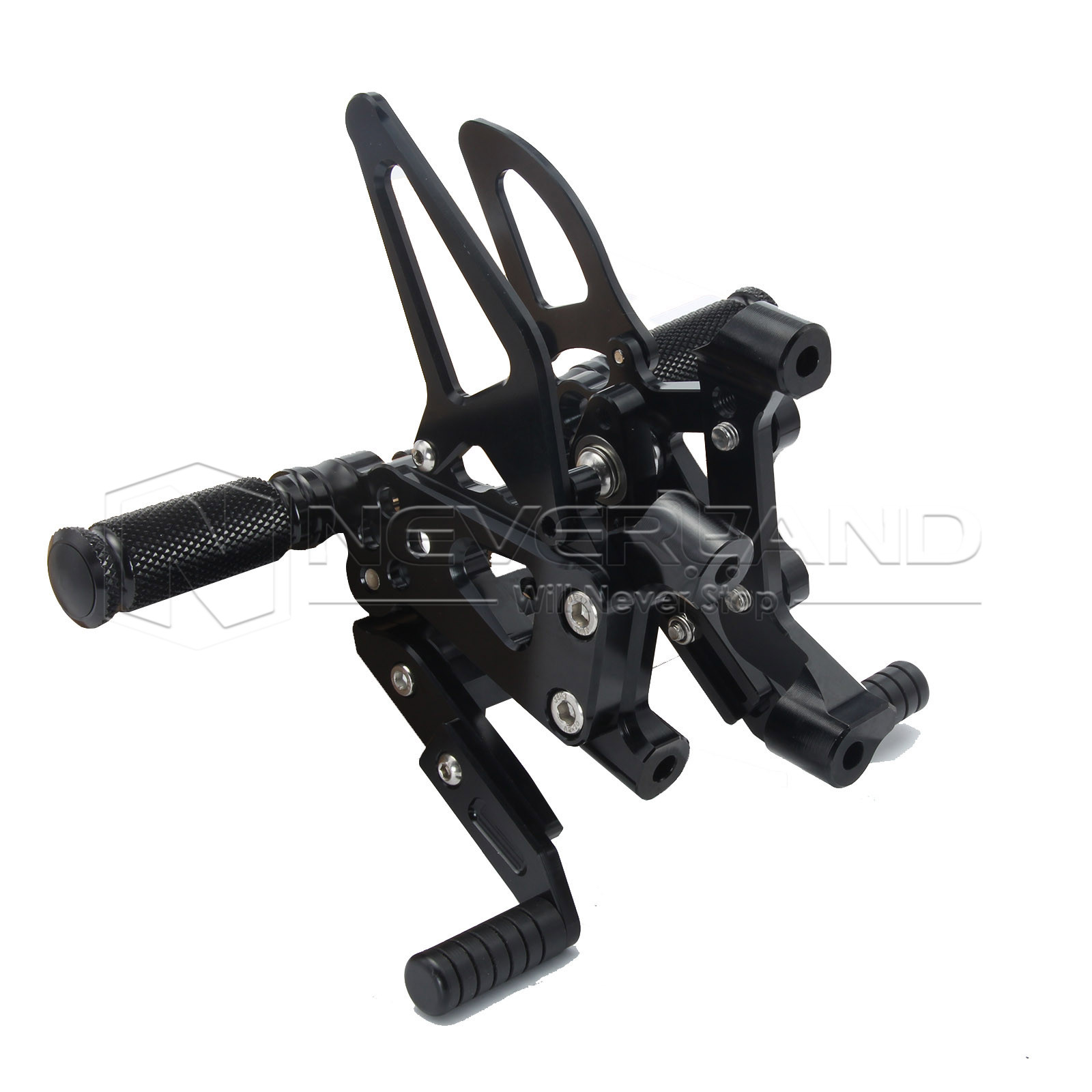 Black Foot Rests CNC Rear Set Adjustable Rearsets Foot Pegs Motorcycle Footrests For Ducati 1199 PANIGALE/S D20 8 color for ducati 999 949 749 748 916 996 998 cnc adjustable rearsets rear set motorcycle footrest hot high quality moto pedal