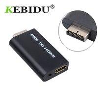 Kebidu ل PS2 إلى HDMI الصوت والفيديو محول محول 480i/480p/576i مع 3.5 مللي متر إخراج الصوت لجميع وسائط العرض PS2