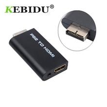 Kebidu für PS2 zu HDMI Audio Video Converter Adapter 480i/480p/576i mit 3,5mm Audio Ausgang für Alle PS2 Display Modi