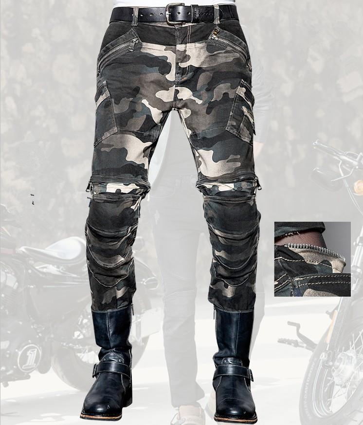 Fashion casual uglybros jeans motorcycle pants camouflage outdoor tactical pants protection motorcycle riders jeans