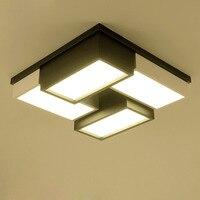 Современные просто теплый Творческий Черный и белый цвета сетки геометрические арт светильник потолочный светильник led спальня гостиная с