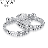 Round Charm Wrap Bangles For Women Jewelry S925 Solid Silver Bangle 100 Pure 925 Sterling Silver