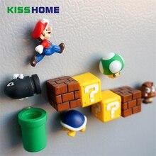 10 шт. 3D Милые Супер Марио Украшенные Детские стерео магнит творческие магнитные наклейки холодильник, чтобы приклеить аксессуары для дома