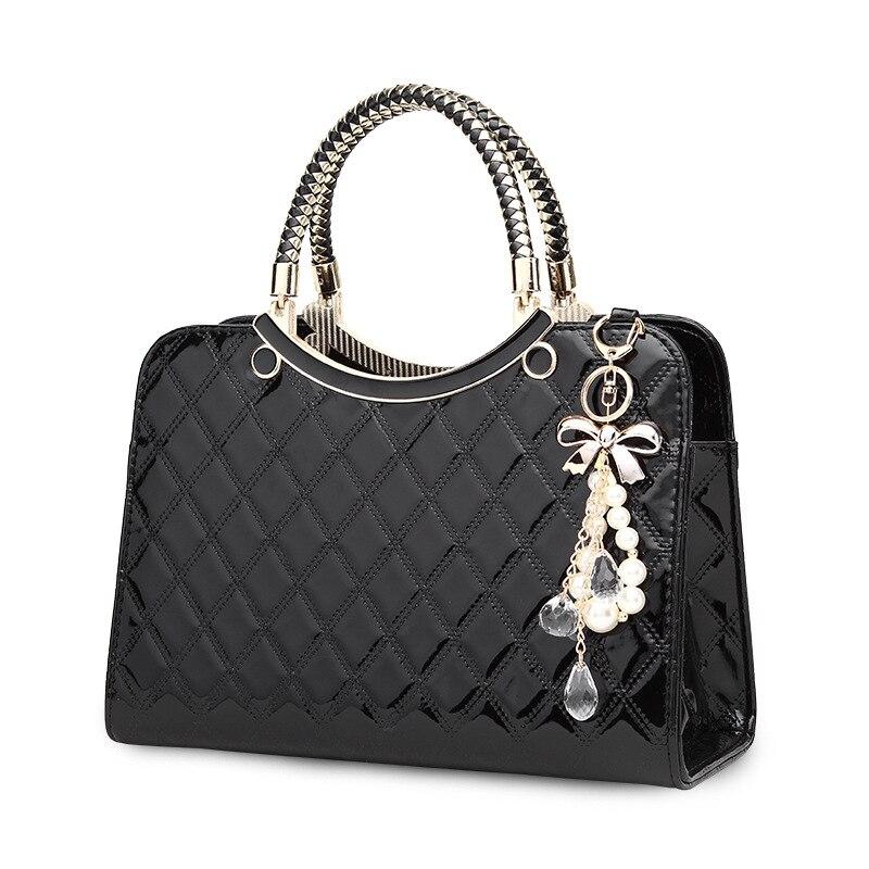 2019 Brand Women Handbags Fashion Luxury Big Shoulder Bag Female Hand Bags Patent Leather Computer Bag For Ladies Girls