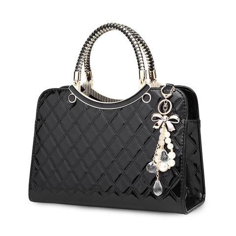 2019 Brand Women Handbags Fashion Luxury Big Shoulder Bag Female Hand Bags Patent Leather Computer Bag for Ladies Girls Pakistan
