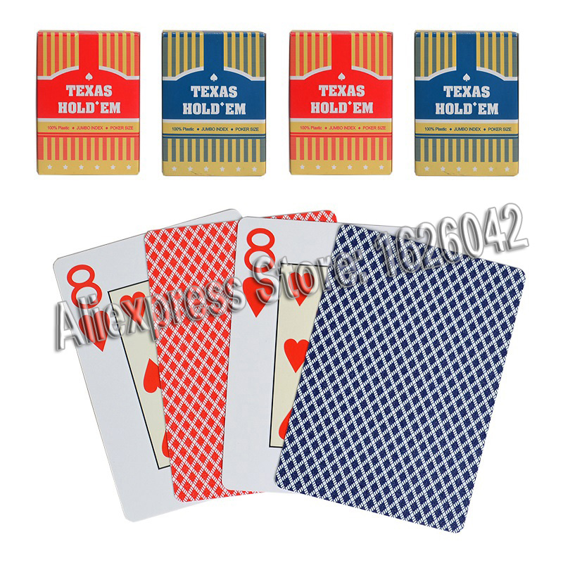 Plastic Playing Card Game Texas Holdem Poker Cards Waterproof and Dull Polish for GamesMagic TrickCard GamesCasino Games