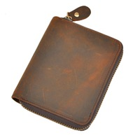 Cattle Male Real Leather Design Multifunction Standard Zipper Around Wallet Purse With Coin Pocket For Men