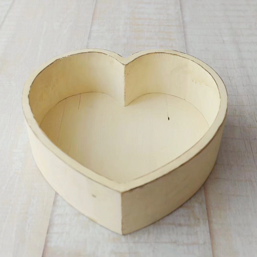 Vintage Newborn Heart Pattern Prop For Photography Baby Posing Bed,Wood Baby Photo Prop,#P2200