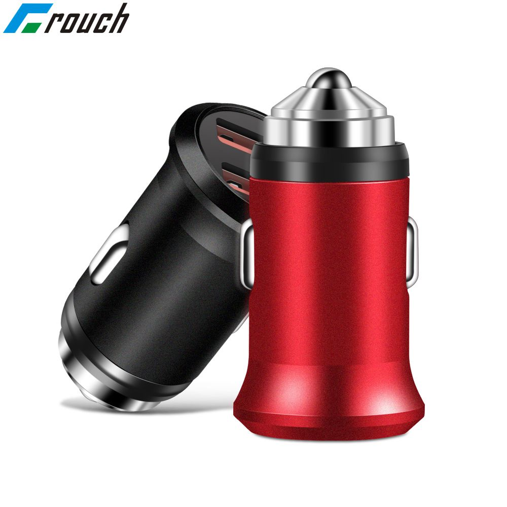 Car Charger Mini Dual usb car charger for mobile Phone Tablet Gps 5V 2A Usb charger for iphone 7 8 plus samsung adapter