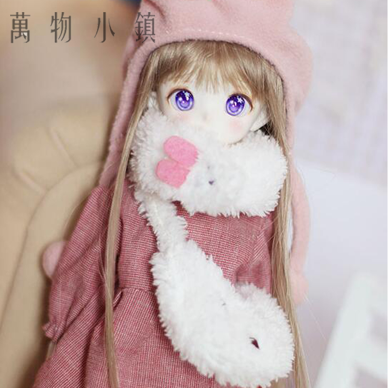 New Arrival 1/4 1/6 MSD YOSD LATI LUTS BJD Suit/Clothes Lovely Pink Dress+Rabbit Scarf+Hat+Bag pretty white lace dress for bjd doll 1 6 yosd 1 4 msd 1 3 sd16 dd luts dod as dz doll clothes cwb96
