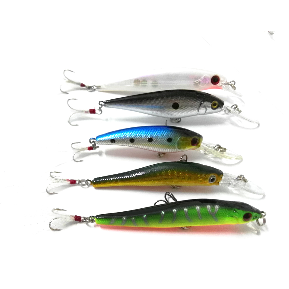 Hot minnow fishing lure hard body jerkbait fire tiger for Fishing lure molds