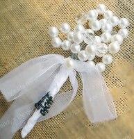 Ślub kwiat corsages oczyszczenie pearl słowo