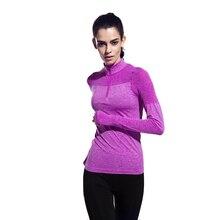 Yoga Top Breathable Sport Shirt Women Long Sleeves Thumb Design Fitness Short Zipper Gym Soft Running Jogging Clothing