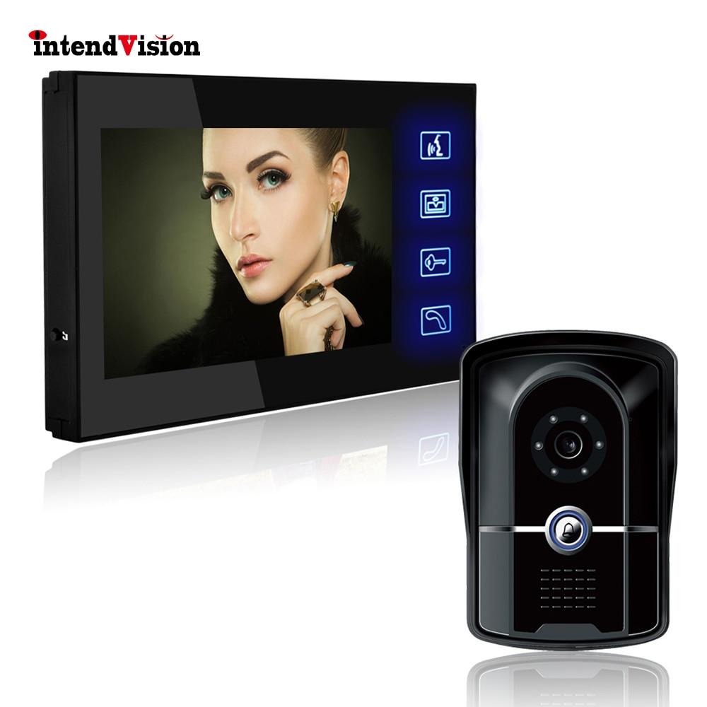 Intendvision Vidéo Interphone 7 ''Porte Téléphone Système Soutien Déverrouiller serrure Électrique-contrôle avec 16 Mélodies SVE00033