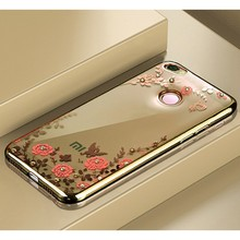 Plating Soft TPU Flower case for Xiaomi Redmi Note 5A Pro Prime cover For 4X 4 4A Case