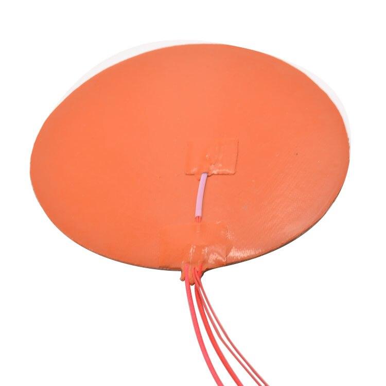 цена на Silicone heating pad heater 200mm for 3d printer circular heat bed 1pcs