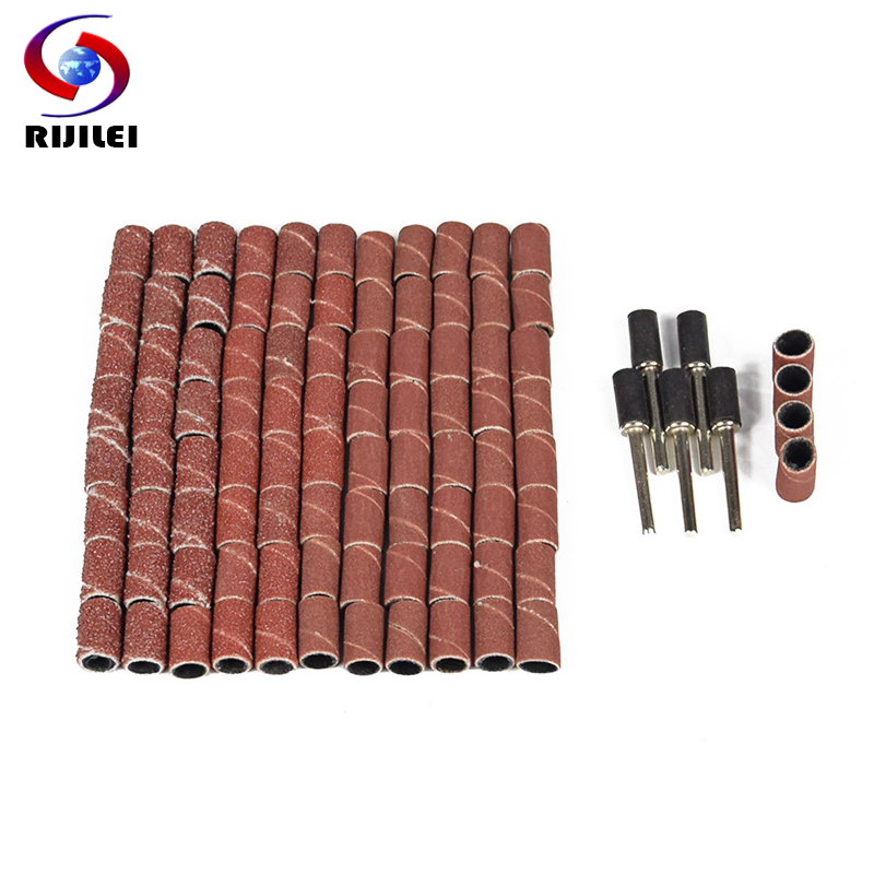 RIJILEI 92Pcs Sanding paper wheel Bit Set Suit Mini Drill Rotary Tool Fit Dremel Grinding,Carving,Polishing tool sets