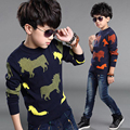 Boys Kids Casual Slim Sweater Coat Boy O-Neck Sweaters Baby Girl Sweater Pullovers 5-12 Year Spring Winter Children Clothing