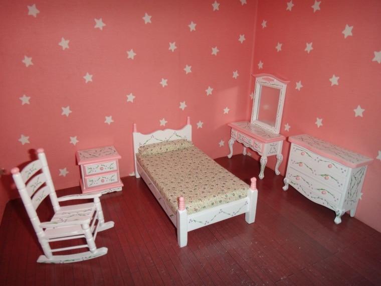 112 miniature doll house bedroom set wooden furniture accessories bedroom furniture bed dollhouse toy diy house model 6pcs set aliexpresscom buy 112 diy miniature doll house