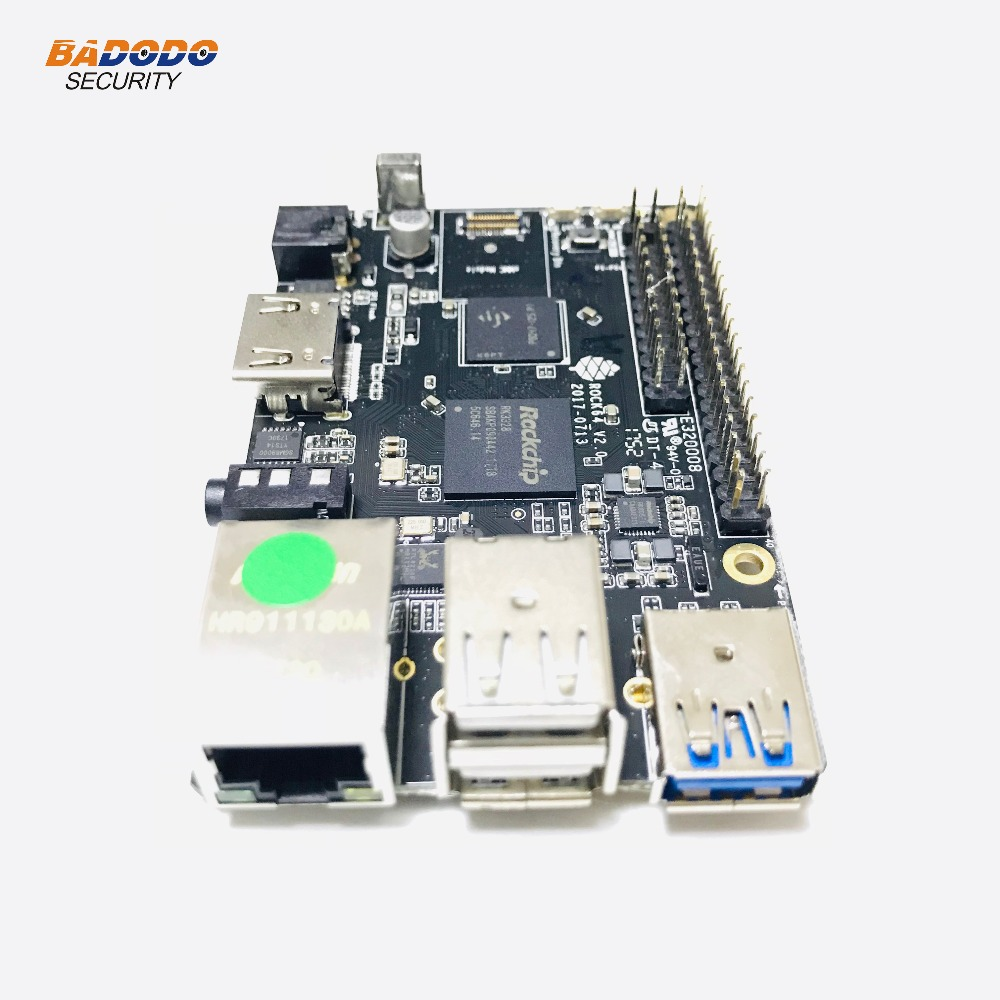 US $53 45 15% OFF ROCK64 PINE64 HDR Android Linux Media development Board  Quad Core+2GB LPDDR3 eMMC socket+Micro SD Card slot+Pi 2 Bus+Pi P5+Bus-in