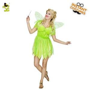 Image 2 - Novo adorável trajes de fadas adulto feminino carnaval festa elf role play vestido de verão trajes de princesa