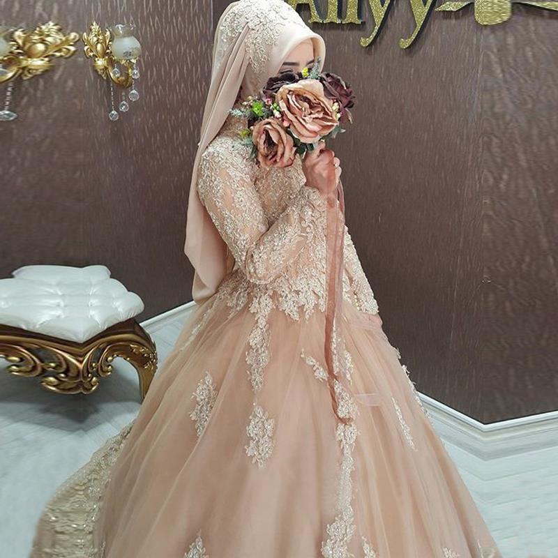 Beautiful Muslim Wedding Dresses Ball Gown Bridal Dress