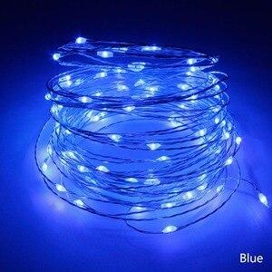 Image 5 - Светодиодная гирлянда, 10 м, 33 фута, 100 светодиодов, 5 В, питание от USB, водонепроницаемая медная проволочная гирлянда, рождественское праздничное украшение, светодиодные гирлянды