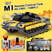 1580 шт технический пульт дистанционного управления Танк 23005 Строительные блоки Набор кирпичей совместимый Legoing rc Танк детские игрушки