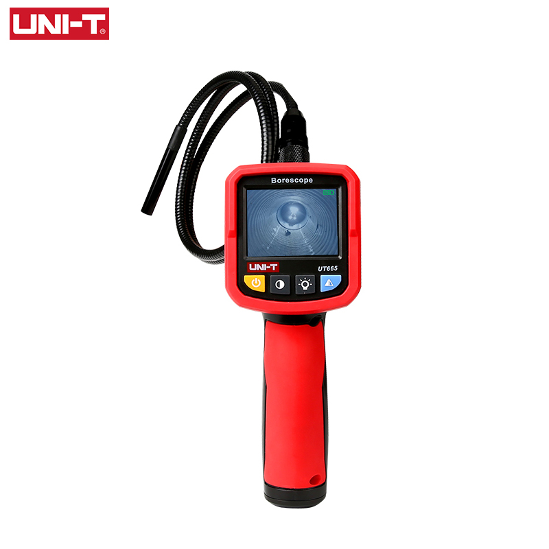 UNI-T UT665 Industrial Snake Borescope Professional Handheld 2.4 Inch Endoscope IP67 Waterproof Vedio Inspection Camera