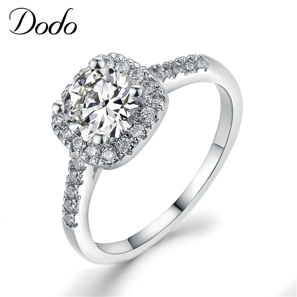 exquisite rings wedding engagement rings for women white gold plated jewelry luxury rings square. Black Bedroom Furniture Sets. Home Design Ideas