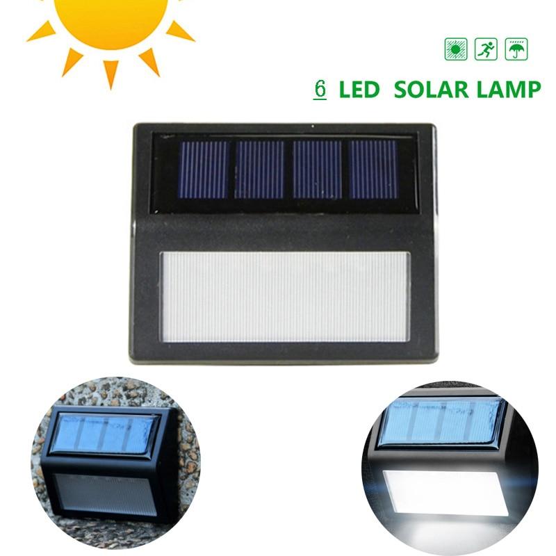 6 светодиодный солнечный светильник движения Сенсор Водонепроницаемый солнечный свет стены крыльцо путь для улиц и ограждений сад Лестниц...