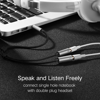 Ugreen 3.5mm Audio Splitter Cable for Computer Jack 3.5mm 1 Male to 2 Female Mic Y Splitter AUX Cable Headset Splitter Adapter 2