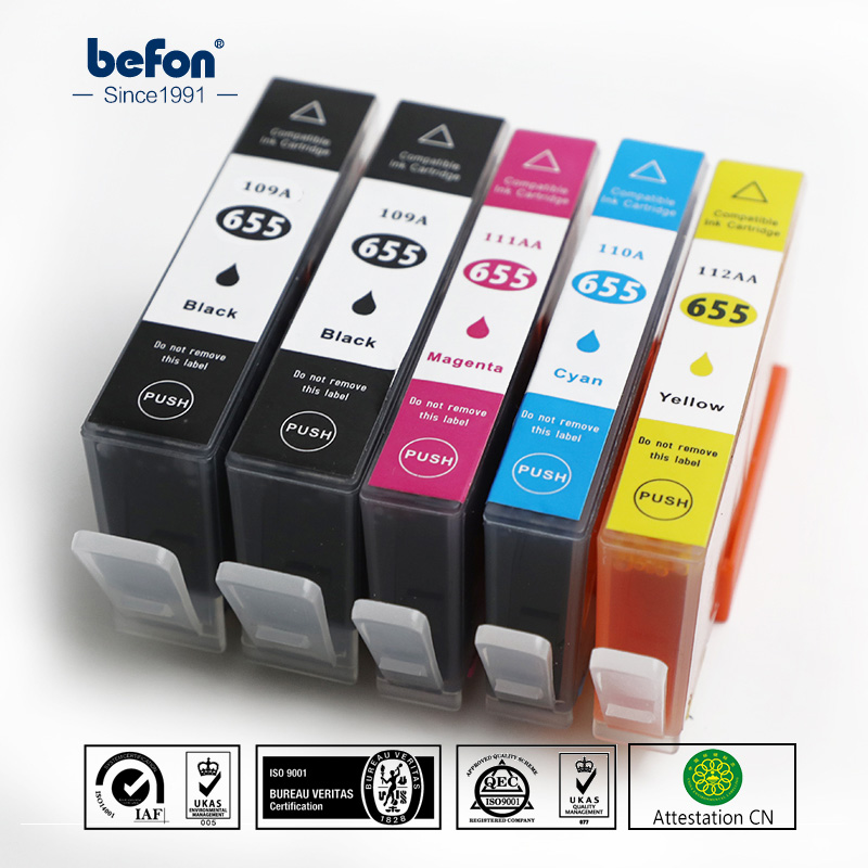 Befon X5 Compatible 109A 110A Ink Cartridge Replacement For HP 655 HP655 For Deskjet 3525 5525 4615 4625 4525 6525 6625 Printer