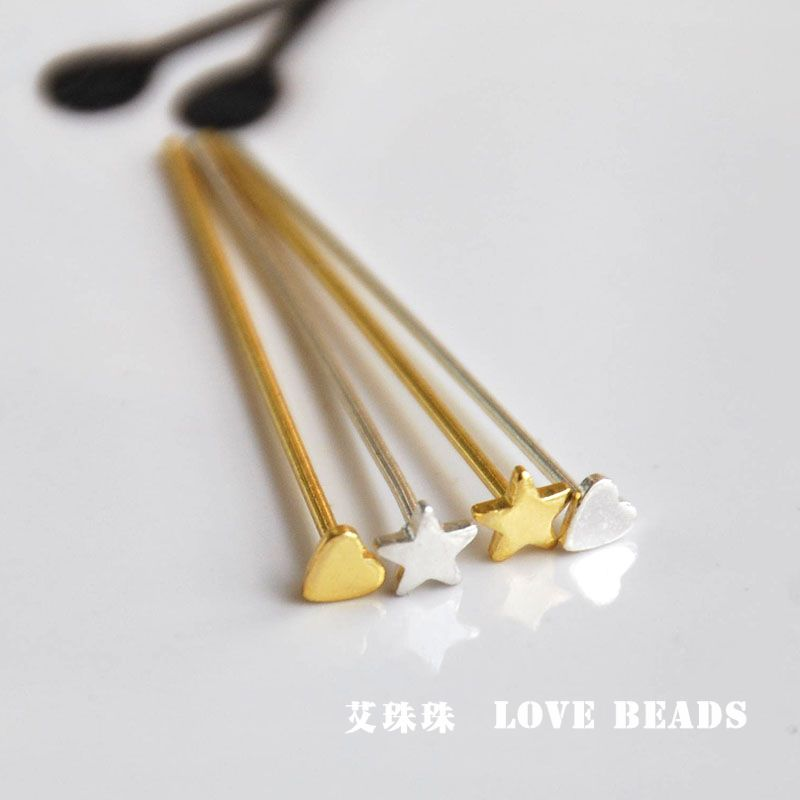 0.6MM THICK FOR JEWELLERY MAKING 35MM LONG BRASS BALL HEAD PINS 100 pcs