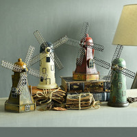 Retro Dutch Windmill Model Money Boxes for Children Resin Creative Piggy Bank Home Decoration Gifts Crafts