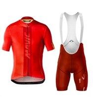 Mavic cycling jersey set short sleeve men road bike mountain mtb pro team set bicycle cycle clothing Maillot Sponge Pants Pad