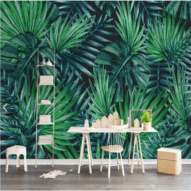 High Grade Custom Wallpaper Scandinavian Minimalist Tropical Plant