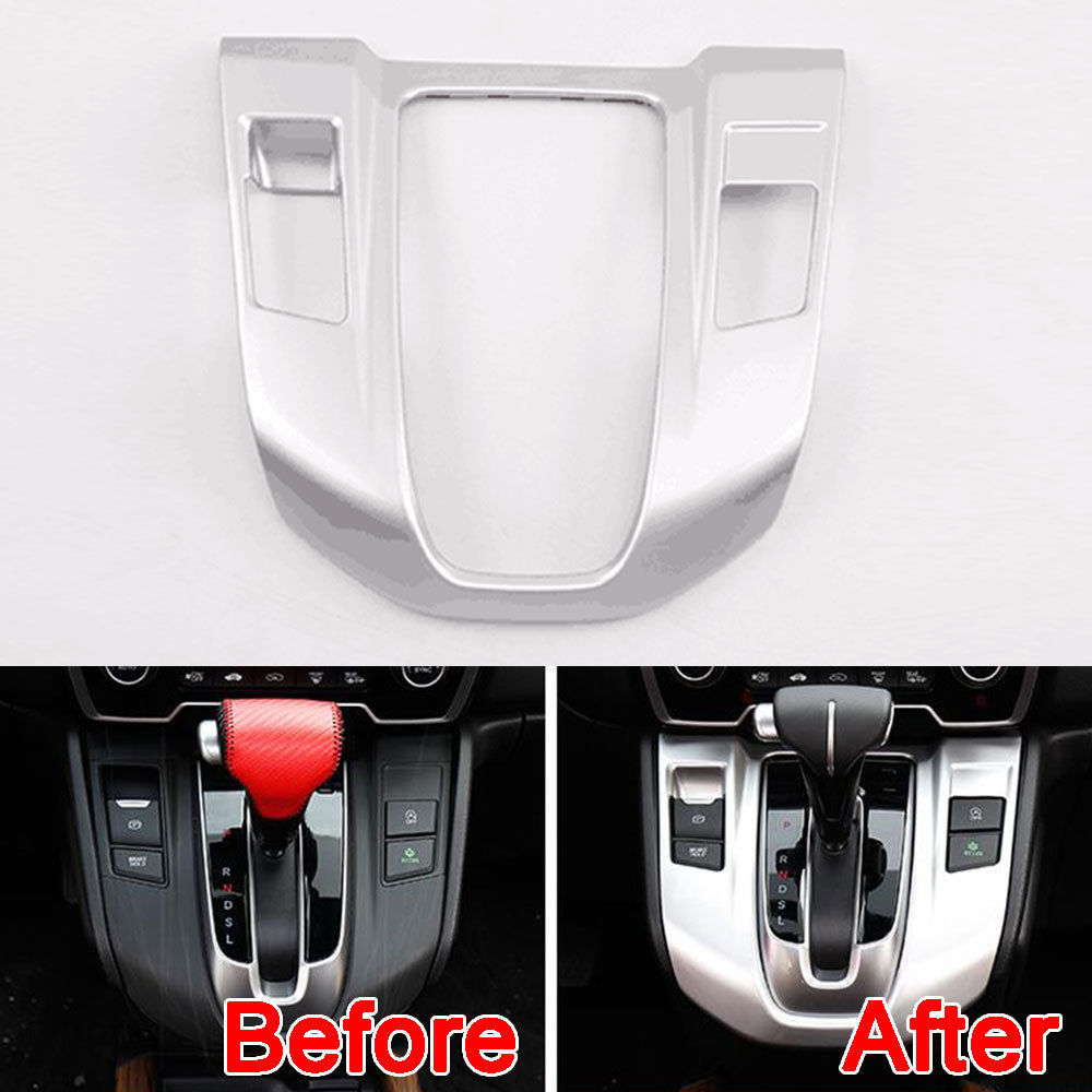 Auto Console Gear Shift Box Panel Cover Trim Chrome ABS Decor Overlay Interior Car Styling Molding For Honda CRV CR-V 2017 2018