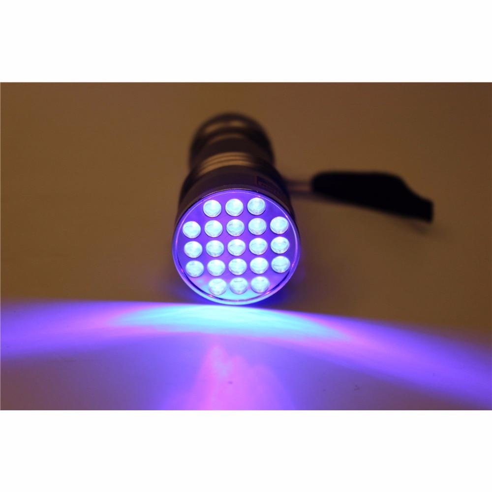 Tigofly UV 395-400NM Waterproof 21 LED Blacklight Flashlight Ultra Violet Light Lamp Fly Tying Glue Curing Light application of pulsed ultra violet light in food processing