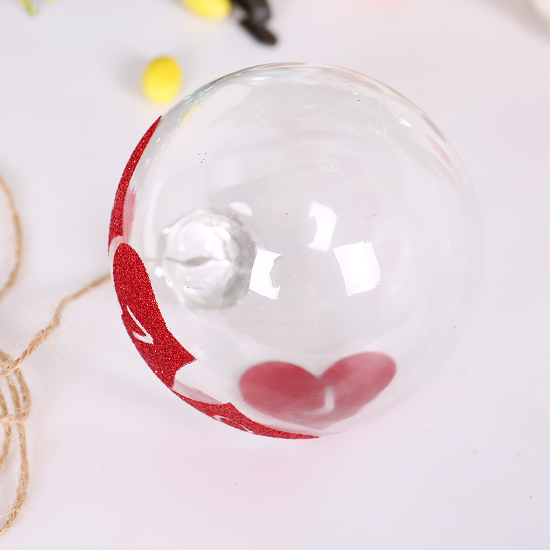 2017 Christmas Glass ball Clear baubles Ornaments Decorations Christmas tree wedding decoration ball party Xmas decoration shop