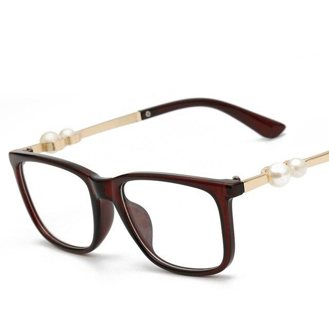 125f1c72d31 LONSY 2016 Fashion Pink Plastic Glasses Frame Women Retro Optical Clear  Myopia Designer Brand Eyeglasses Frame CJ2201