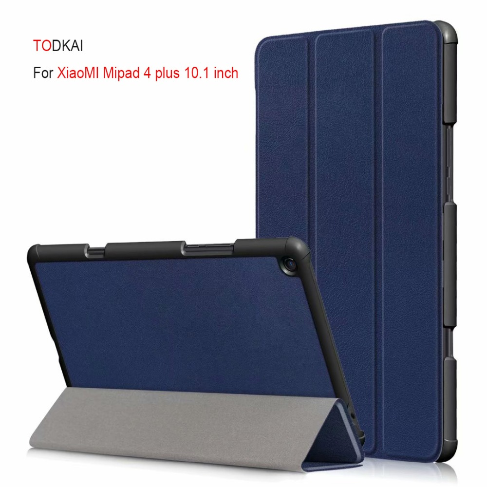 Magnet Smart Sleep Wake pu leather case For Xiaomi Mipad 4 Plus Mi Pad 4 plus 10.1 inch tablet cover for Xiaomi MiPad4 plus case baseus new visual leather case for iphone7 plus black