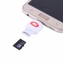 Moq 1Piece Micro SD TF Card Reader For Samsung HTC Huawei Xiaomi Android Smartphone Tablet Micro USB to USB OTG Host Converter