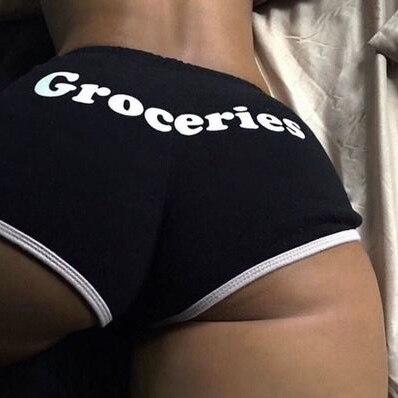 Ke esportes shorts com estampación elastico sexyy