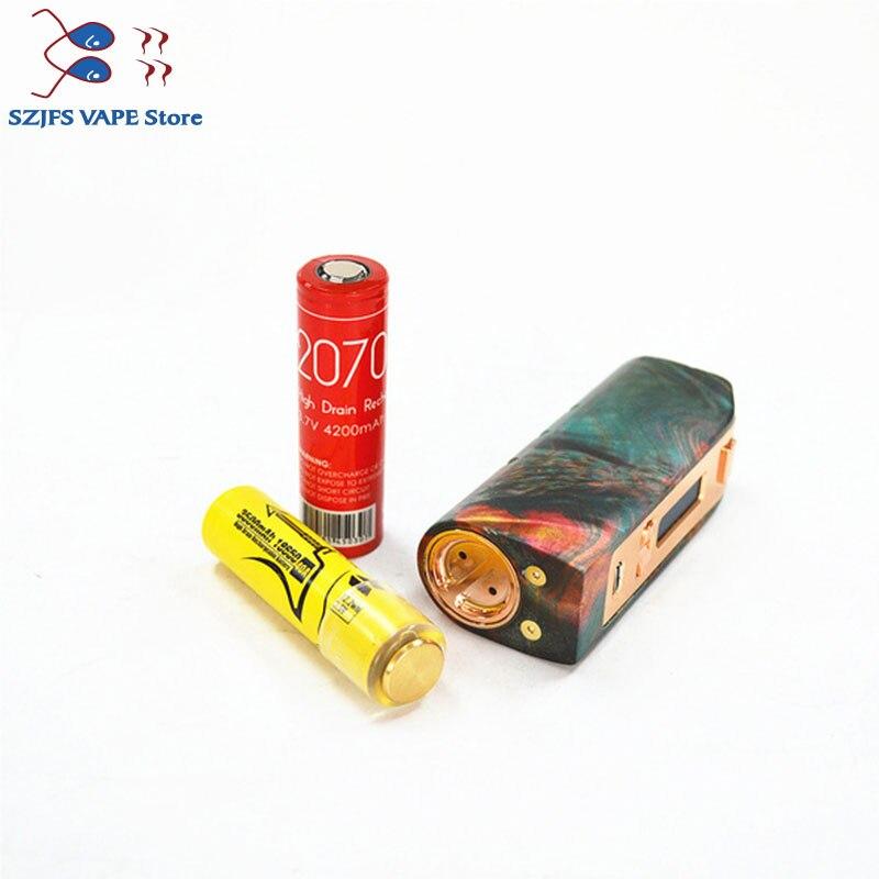 100% Original Yiloong brumisateur régulé bois stabilisé boîte mod 167 w TC Squonk MOD Max 167 W sortie 18650 batterie boîte Mod Vape Mod - 3